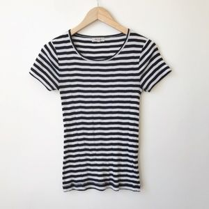 Madewell Ribbed Sandoval Stripe Tee Size Small